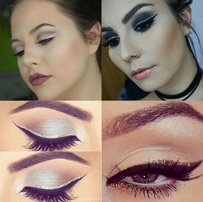 Eyeliner con purpurina