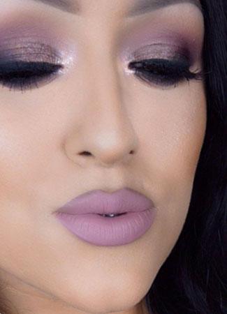 maquillaje festivo rosa