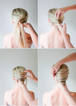 Peinados express: Moño plano