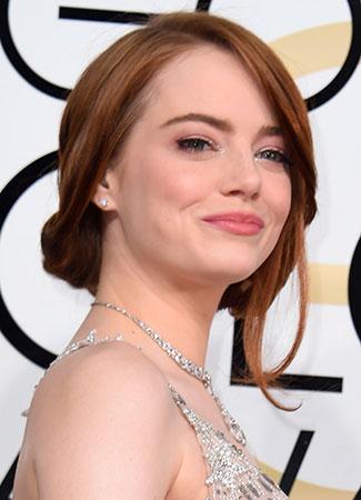 Emma Stone en los Globos de Oro 2017