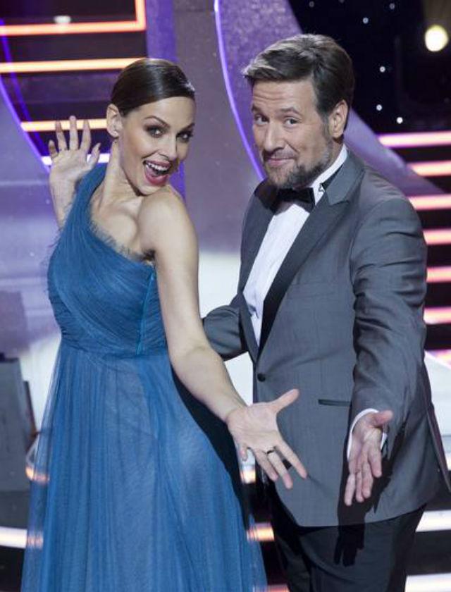 Vestido de Antonio García para Eva González en la gala de fin de año 2017
