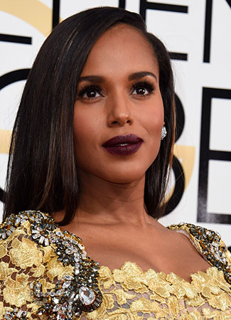 Kerry Washington en los Globos de Oro 2017