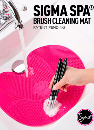 Productos y dispositivos para limpiar brochas de maquillaje: sigma spa