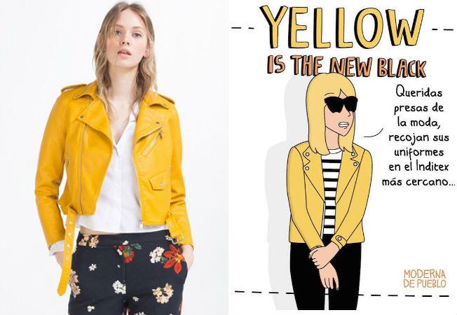 Prenda viral: la chaqueta amarilla de Zara y la crítica de Moderna de Pueblo