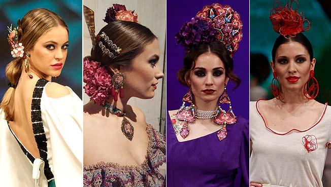 Peinados de flamenca pelo corto 2017