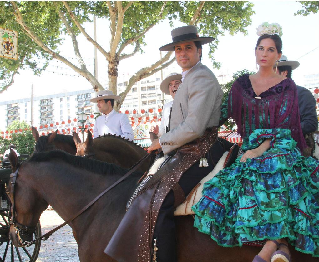 Lourdes Montes y Fran Rivera en la Feria de Abril de 2014. Foto: Rocío Ruz