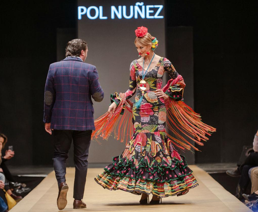 Desfile de Flamenca Pol Núñez en la Pasarela Flamenca de Jerez 2017. Foto: Cristian Cantizano Fotography