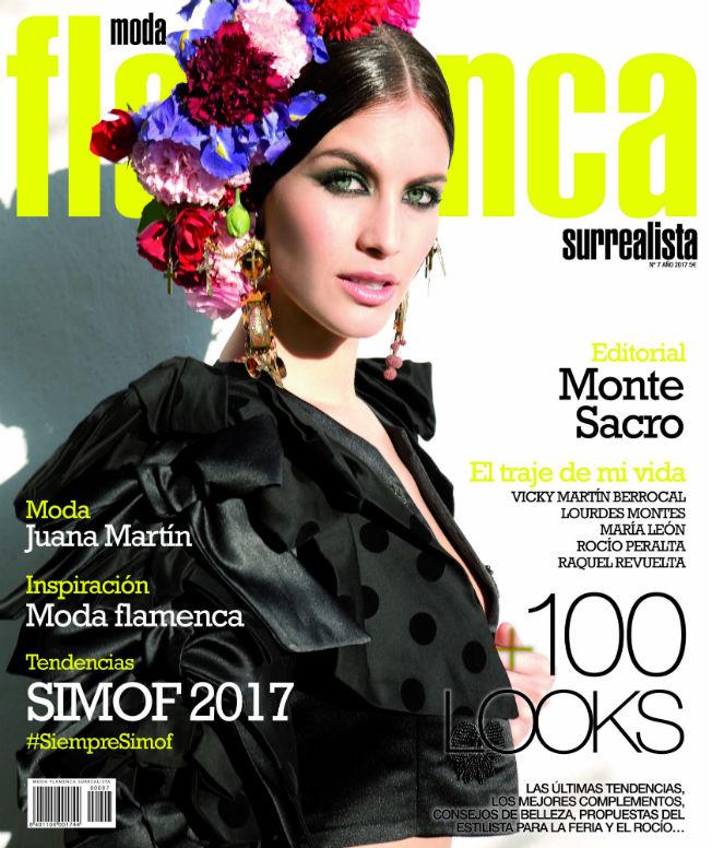 Desiré Cordero en la portada de la revista Surrealista de moda flamenca