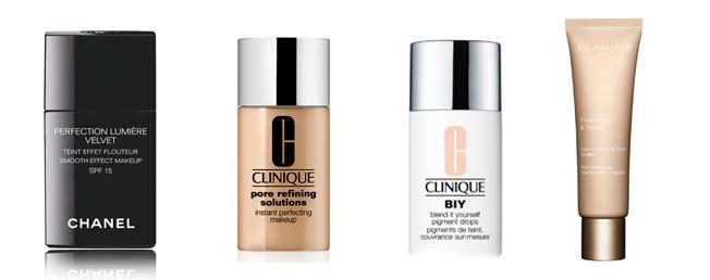 bases de maquillaje poros