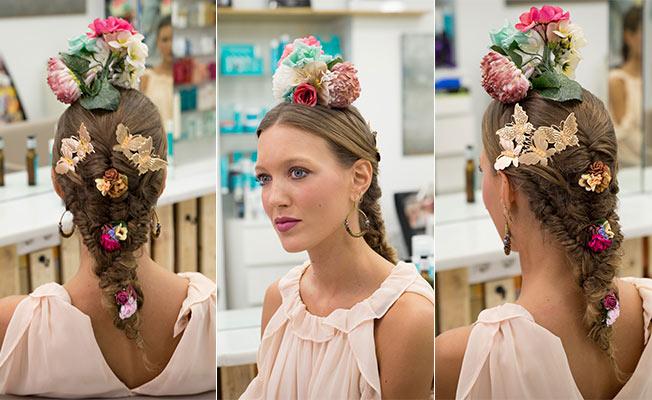 Cómo poner las flores para el traje de flamenca: combinadas