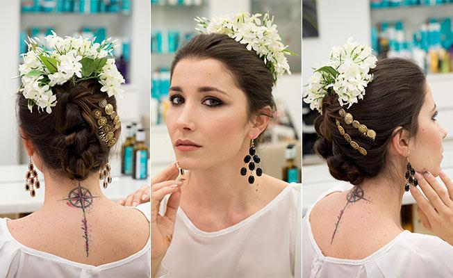 Cómo poner las flores para el traje de flamenca: en corona