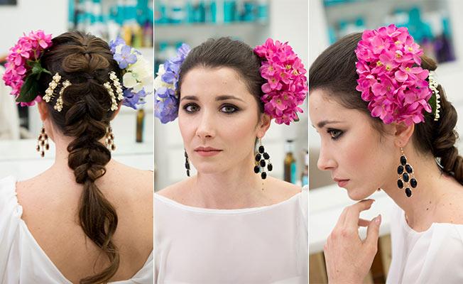 Cómo poner las flores para el traje de flamenca: simétricas