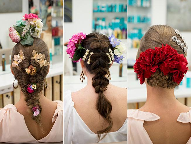 Cómo poner las flores para el traje de flamenca