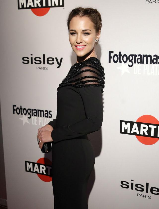 Paula Echevarría con vestido de Victoria (firma de Vicky Martín Berrocal) en los premios Fotogramas 2017. Foto: EFE