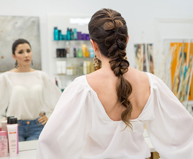 Ideas de peinados de flamenca: falsa trenza
