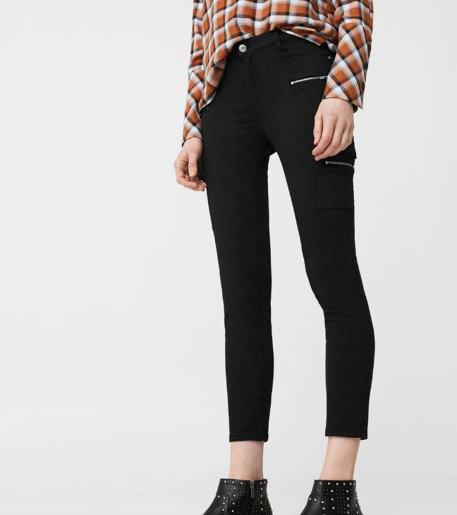 17d28827495e21 Las chicas de silueta rectangular y esbelta pueden agregar algo de  voluptuosidad a su cuerpo eligiendo pantalones estilo pitillo o slim fit.  Al llevar ...