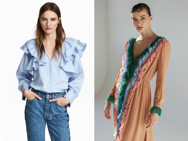 Repasamos prendas de la tendencia de los volantes en la moda de calle