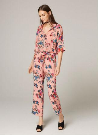 Camisa y pantalón floral de Uterqüe