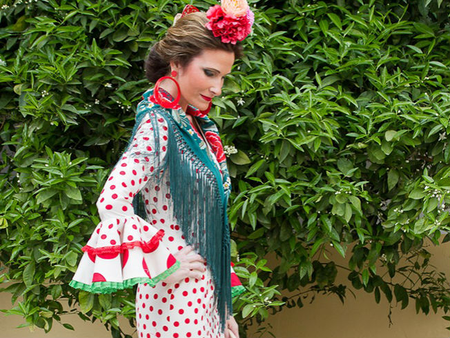 Desfile de trajes de flamenca de Fabiola en Córdoba