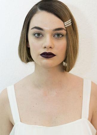 Maquillaje de novias de inspiración gélida de la firma Cristina Piña en Atelier Couture 2017