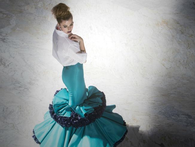 Vestidos largos de noche flamencos
