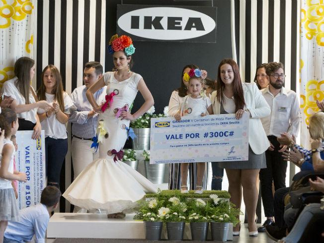 Certamen de moda flamenca de Ikea Sevilla. Foto: Santi Molina