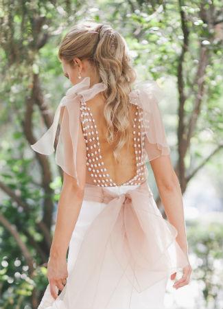 Peinado de novia con coleta
