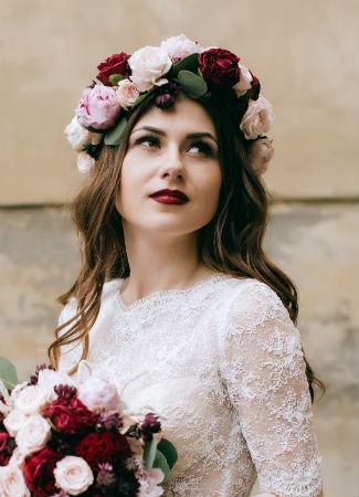 Melena ondulada suelta para novias