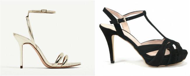 Sandalias de Zara y de Nuria Cobo para vestir de flamenca