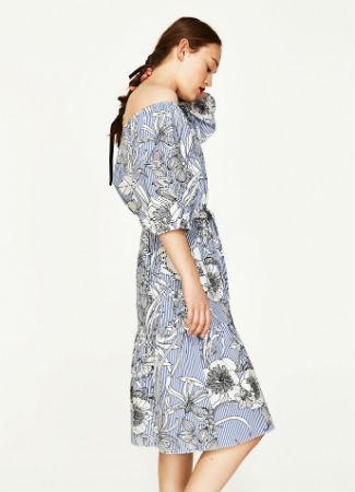 Vestido túnica de flores de Zara