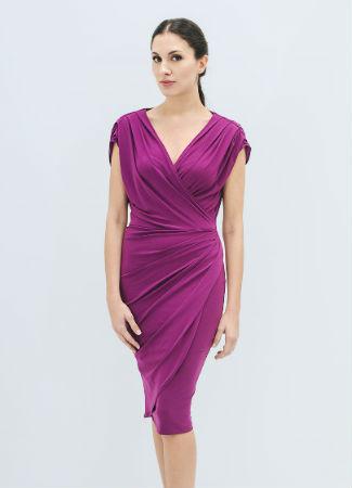 Vestido buganvilla de la firma Heloise
