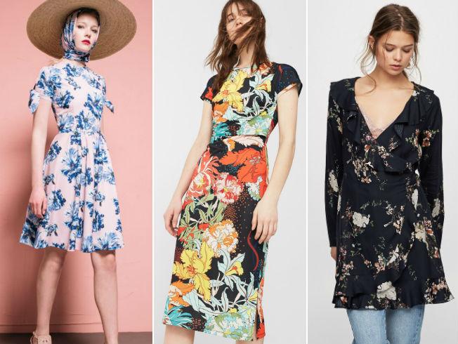 Vestidos de flores para la primavera 2017