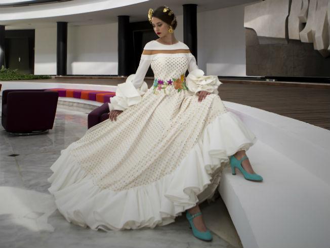 Zapatos para vestir de flamenca en la feria de abril