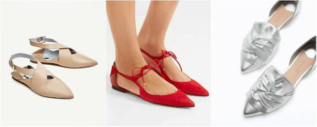 Tendencia de zapatos planos para la primavera-verano 2017