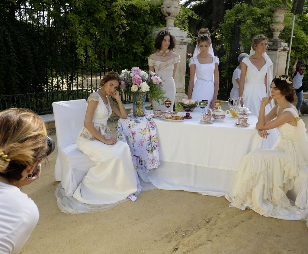 Shooting de la nueva colección de novias de Aurora Gaviño en SIQ 2017. Foto: Chema Soler