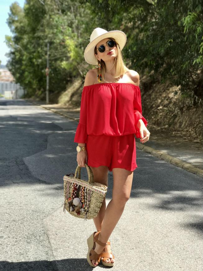 Bolso de cesta de mimbre de tendencia para el verano