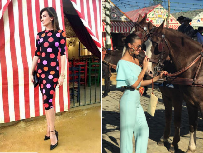 Looks de las famosas en la feria de abril 2017