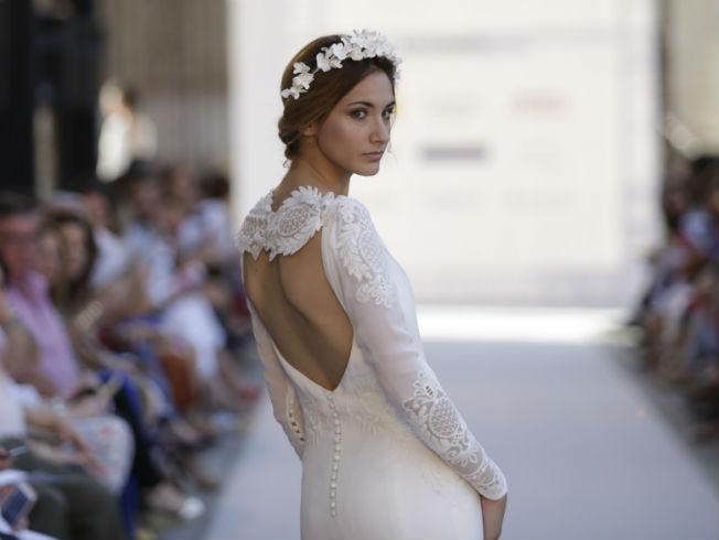 Desfile de novias de Iván Campaña de su colección 2018 en SIQ 2017.  Foto: Vanessa Gómez