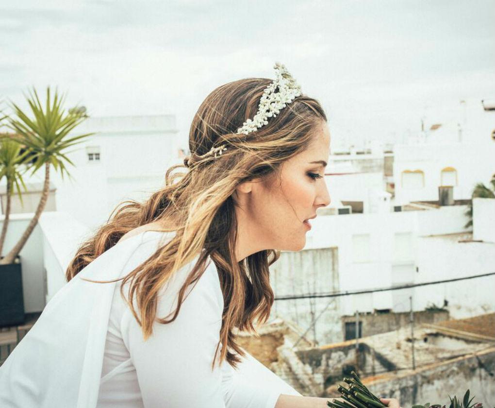 Tiara para novia de Luis Benítez