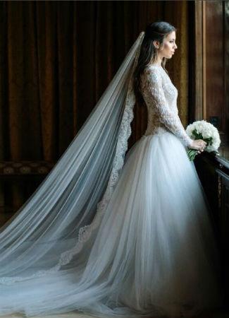 Melissa Jiménez vestida de novia