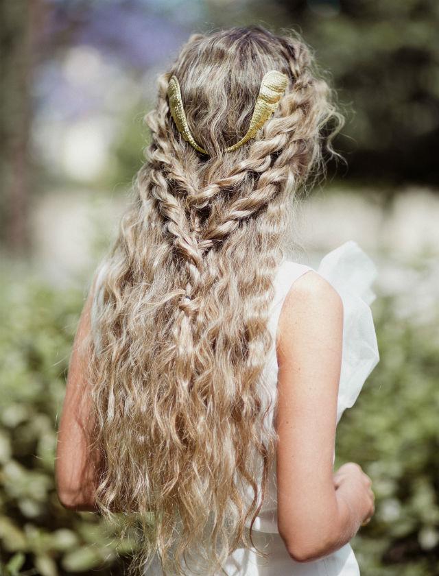 Semirrecogido para novias del 2017-2018 de la estilista Ana Espejo. Foto: Lucía Cherubina