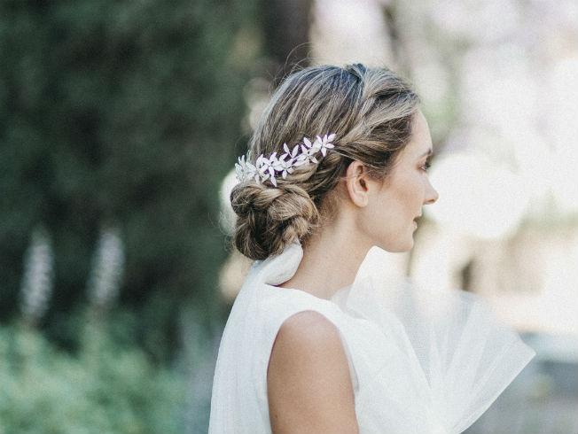 Peinados para novias 2017-2018 con Ana Espejo y complementos de Ani Burech