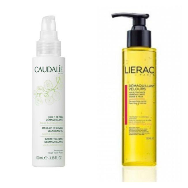 Limpia tu piel con aceites Aceites desmaquillantes de Caudalie y Lierac