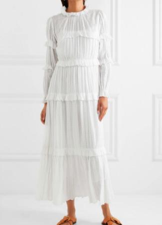 Vestido blanco de Isabel Marant