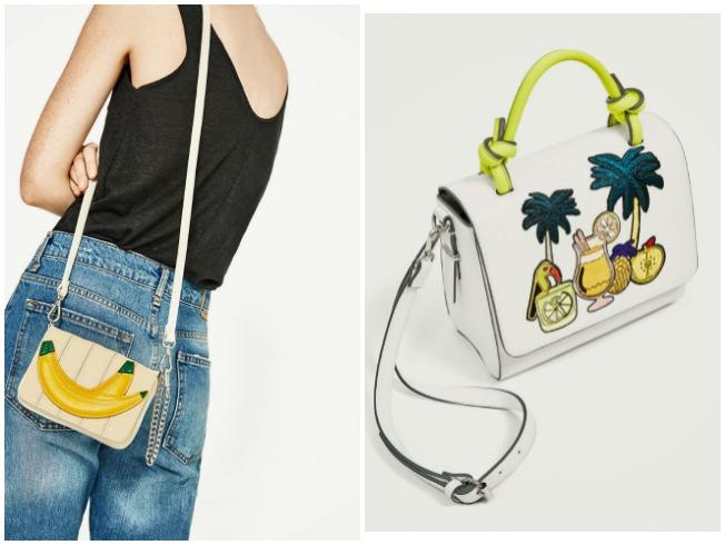 Bolsos con estampado pop de Zara