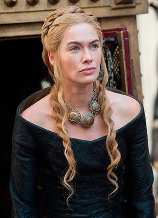 Cersei Lannister peinados Juego de Tronos
