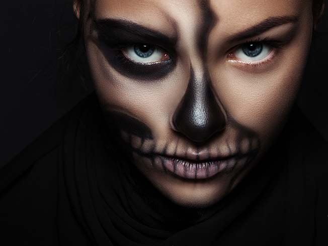 trucos para un maquillaje de halloween fcil - Maquillaje Halloween