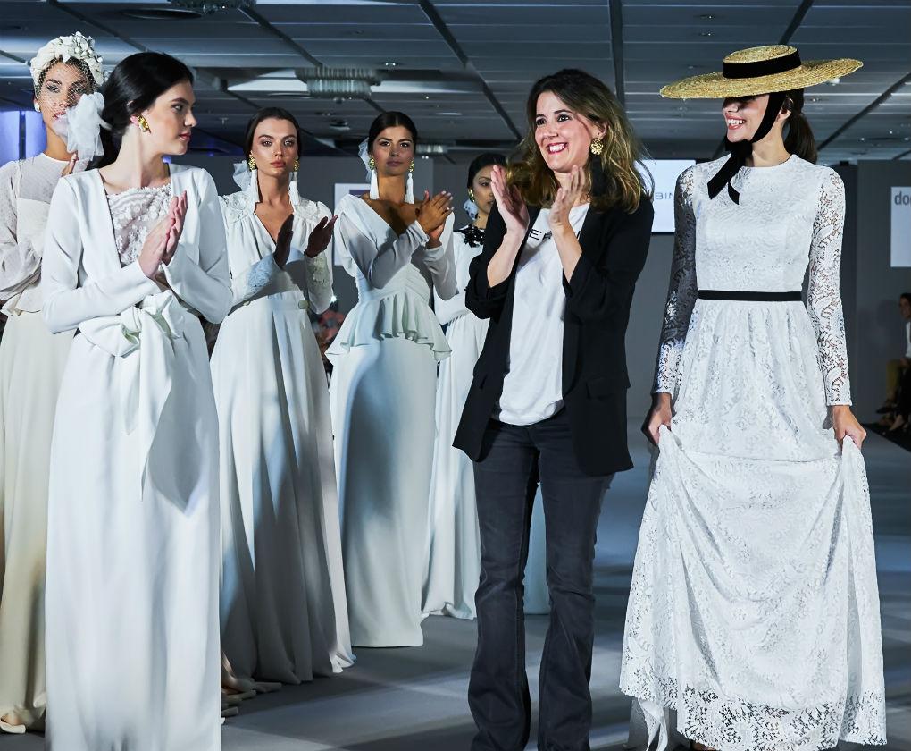 Desfile de Cherubina con la colección de novias 2018 «Le Beau Monde» en la Pasarela New Models. Foto: Nacho Álvarez