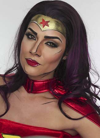 Maquillaje de Wonder Woman Halloween 2017