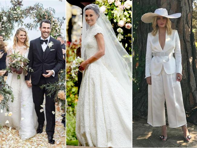 así han sido los vestidos de las novias famosas del 2017 - bulevar sur
